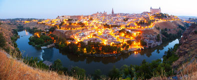Panorama of Toledo in morning Stock Photography