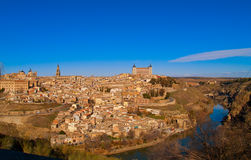 Panorama of Toledo, Spain Royalty Free Stock Photos