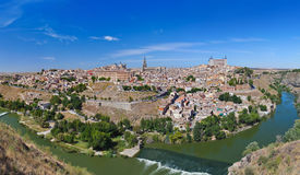 Panorama of Toledo Spain. Nature and architecture background Stock Photos