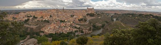 Panorama of the Toledo, Spain Stock Photo