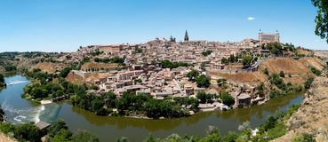 Panorama of Toledo, Spain Stock Image