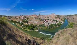 Panorama of Toledo Spain Royalty Free Stock Photos