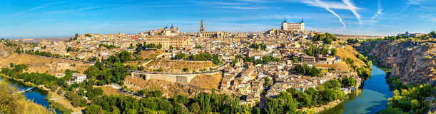 Panorama of Toledo, a UNESCO world heritage site in Spain Stock Photos