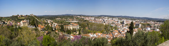 Panorama of Tomar Portugal Stock Photography
