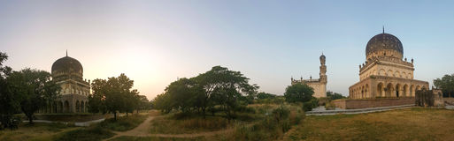 Panorama of the tombs in India Stock Photos