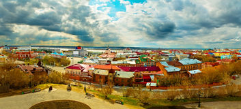 The panorama of the Tomsk Royalty Free Stock Image