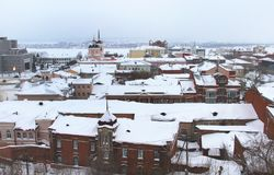 Panorama of Tomsk city, Russia, Siberia royalty free stock photography