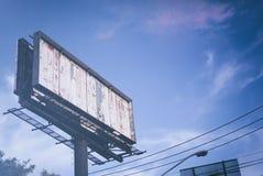 Panorama- tomt tecken fotografering för bildbyråer
