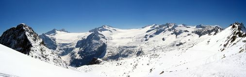 Tonale Presena. Panorama of the Tonale-Preena Italy Dolomiti Royalty Free Stock Photography