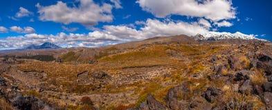 Panorama of Tongariro Stock Photos