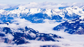 Panorama from the top of Kaprun glacier Royalty Free Stock Photography