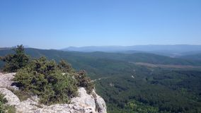 Panorama from top of mountain, hope and freedom royalty free stock photos
