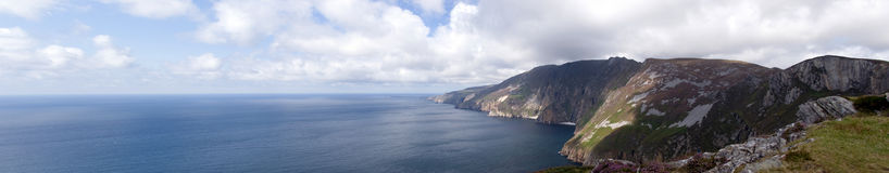 Panorama from top of Slieve League. View of slieve league, ireland Stock Image