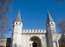 panorama- topkapisikt för slott Arkivfoton