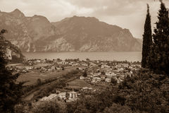 Panorama of Torbole, Lake Garda, Italy. Stock Photography