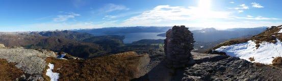 Panorama Torefjell przy końcówką Październik Obraz Royalty Free