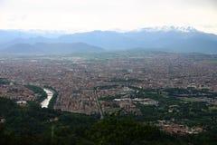 panorama torino Royaltyfri Bild