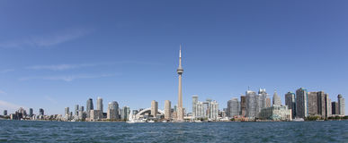Panorama Toronto Schronienie obraz stock