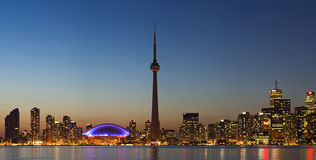 Panorama of Toronto skyline at