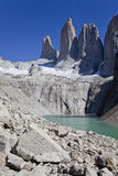 Panorama of the Torres del Paine. Royalty Free Stock Photo