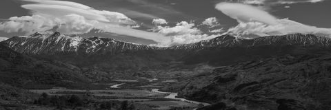 Panorama of Torres del Paine, Patagonia Royalty Free Stock Photos