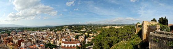 Panorama from Tortosa castle Royalty Free Stock Image