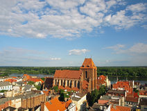 Panorama of Torun. Panorama view from the tower of City Hall in Torun, Poland Stock Photography