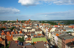Panorama of Torun Stock Photo