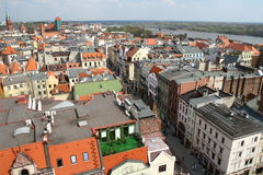 Panorama of Torun city in Poland Royalty Free Stock Image