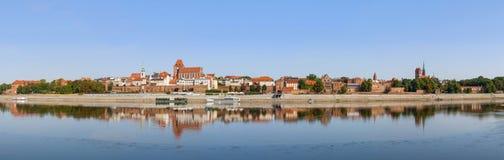 Panorama of Torun Old City, Poland Stock Images