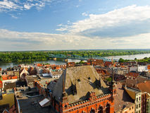 Panorama of Torun, Poland. Stock Photo