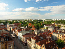 Panorama of Torun, Poland. Royalty Free Stock Images
