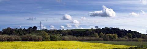 Panorama toscan en été Photos stock