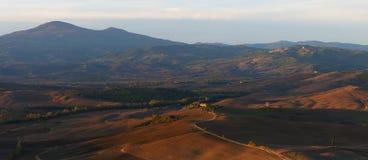 Panorama in Toskana Stockfoto