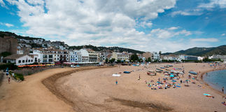 Panorama of Tossa de Mar Catalunya Spain Stock Photos