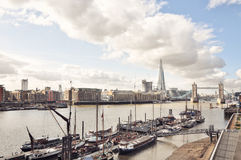 Panorama of Tower Bridge and The Shard Royalty Free Stock Photography