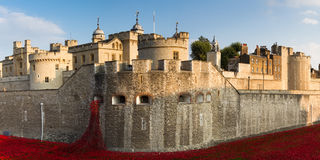 Panorama of the Tower of London Stock Photography