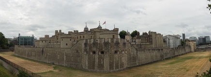 Panorama of the Tower of London Royalty Free Stock Image