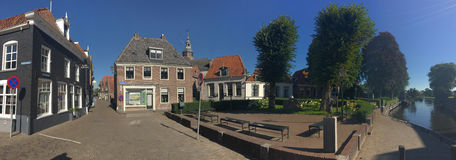 Panorama from the town Blokzijl Stock Images