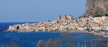 View of Cefalu, Northern Sicily Royalty Free Stock Photo