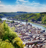 Panorama of town Dinant Royalty Free Stock Photography