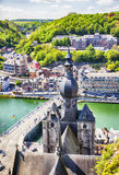 Panorama of town Dinant Stock Image