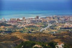Panorama of the town of Fuengirola, Malaga, Spain Royalty Free Stock Photo