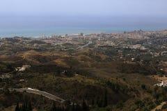 Panorama of the town of Fuengirola, Malaga, Spain Stock Image