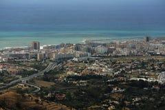 Panorama of the town of Fuengirola, Malaga, Spain Stock Photo