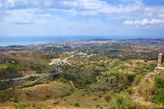 Panorama of the town of Fuengirola, Malaga, Spain Stock Photography