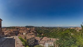 Panorama of the town and landscape of Perugia, Italy royalty free stock photography