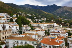 Panorama of the town of Mijas, Malaga, Spain Stock Photo