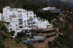 Panorama of the town of Mijas, Malaga, Spain Royalty Free Stock Photos