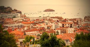 Panorama of the town Tossa de Mar, Spain Royalty Free Stock Photo